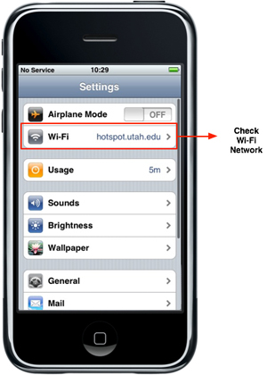 iPhone - Wi-Fi - Check Network