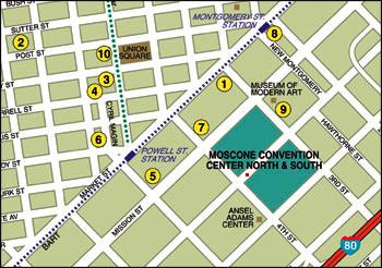 2017 Moscone Center San Francisco Google Map