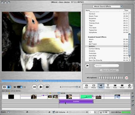 how to delete gap in audio on imovie