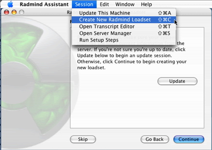 Radmind Assistant - Create New Loadset